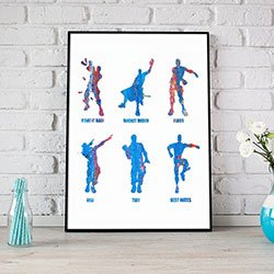 Emote Dances Fortnite Art Print