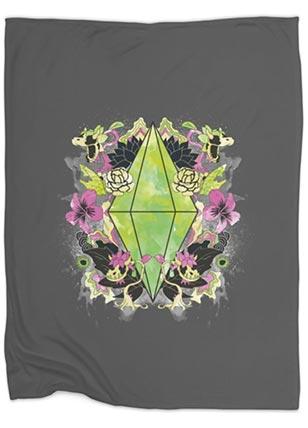 Floral Plumbob Throw Blanket