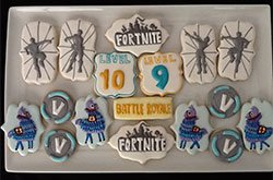 Fortnite Themed Decorated Sugar Cookies