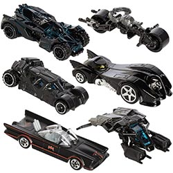Hot Wheels Bundle Set Of 6 Exclusive Batman Die Cast Vehicles