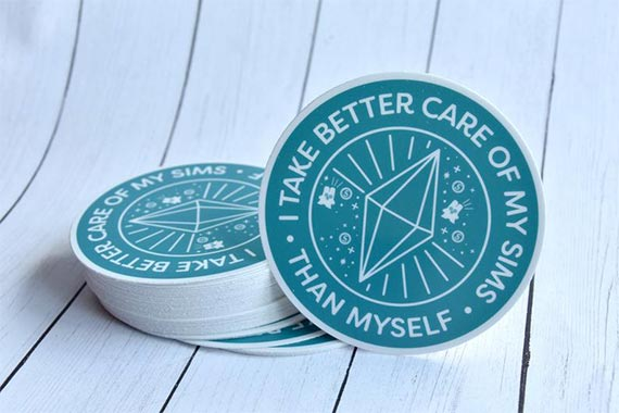I Take Better Care Of My Sims Than Myself Vinyl Sticker