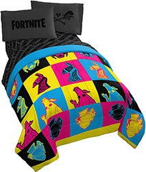 Jay Franco X Fortnite Character Warhol 5 Piece Bedding Set
