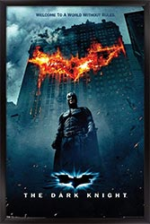 The Dark Knight Batman Logo On Fire One Sheet Wall Poster