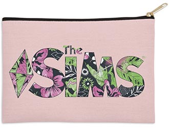 The Sims Floral Zip Pouch Bag