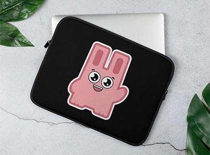 The Sims Freezer Bunny Inspired Fan Art Laptop Sleeve
