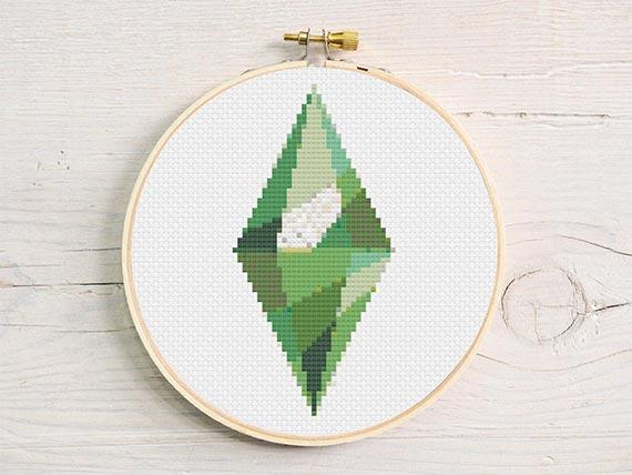The Sims Plumbob Cross Stitch Pattern Pdf