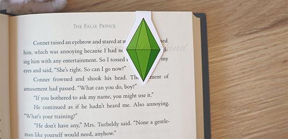 The Sims Plumbob Magnetic Bookmark