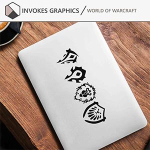 Wow Alliance And Horde Vinyl Stickers