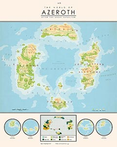 Wow Classic Azeroth World Map