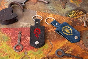 Wow Leather Keychain Horde Or Alliance