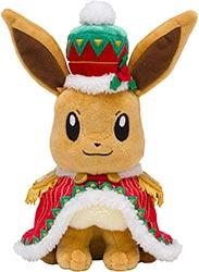A Christmas Eevee Plush