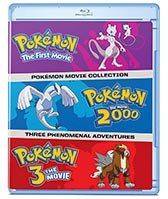A Collection Of All 3 Pokemon Movies On Blu Ray