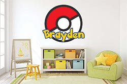 A Personalized Pokeball Decal