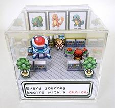 A Pokemon 3d Diorama Cube