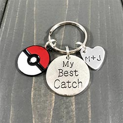 A Pokemon Valentine's Day Gift Romantic Keychain