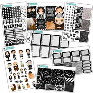 Addams Family Planner Stickers