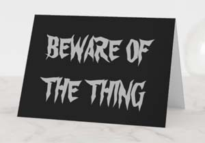 Beware Of The Thing Addams Family Blank Card