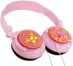 Bandai Sailor Moon Pink Stereo Headphones