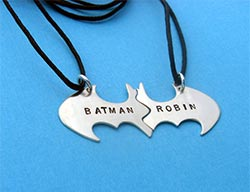 Batman Best Friend Sterling Silver Necklaces