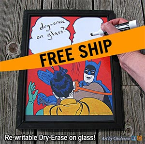 Batman Slap Meme Dry Erase Or Wipe Board Art