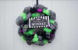 Beware Of Beetlejuice Wreath