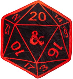 Bioworld Dungeons And Dragons D20 Shaped Throw Blanket