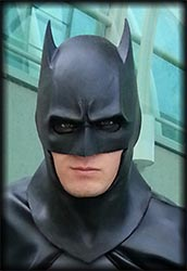 Black Urethane Comic Style Batman Cowl Mask
