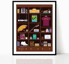 Buffy Bookcase Art Print