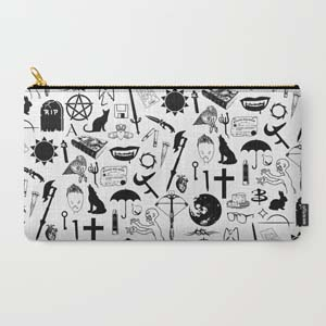 Buffy Symbology Black Carry All Pouch