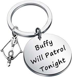 Buffy Will Patrol Tonight Keychain