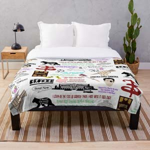 Buffy The Vampire Slayer Collage Throw Blanket