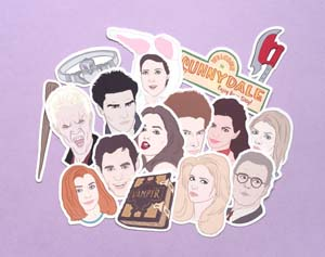 Buffy The Vampire Slayer Sticker Set