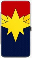 Captain Marvel Classic Star Logo Hinged Wallet