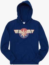 Captain Marvel Crest Girls Hoodie