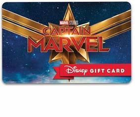 Captain Marvel Disney Gift Card