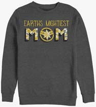 Captain Marvel Earths Mightiest Mom Crew Sweatshirt