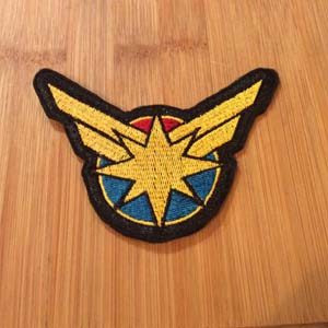 Captain Marvel Embroided Patch