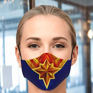 Captain Marvel Face Mask With Filter