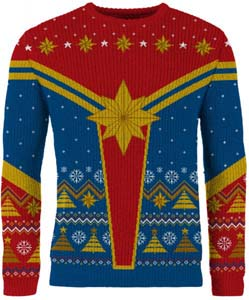 Captain Marvel Festive Is A Good Look For You Knitted Christmas Sweater