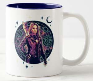 Captain Marvel Galactic Goose & Carol Graphic Two Tone Coffee Mug