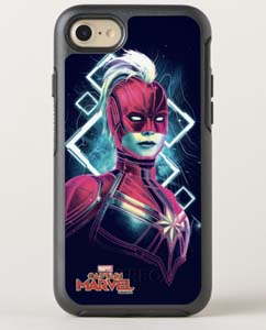 Captain Marvel Glowing Character Symmetry Iphone Case