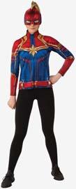 Captain Marvel Hero Suit Costume Top