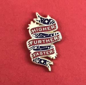 Captain Marvel Higher Further Faster Enamel Pin
