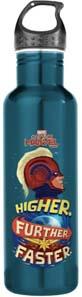 Captain Marvel Higher Further Faster Stainless Steel Water Bottle