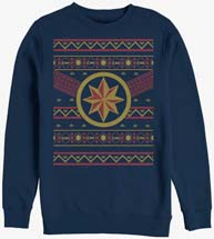 Captain Marvel Logo Ugly Christmas Sweater Sweatshirt