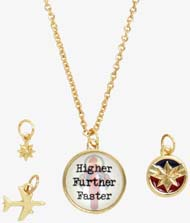 Captain Marvel Multi Charm Necklace