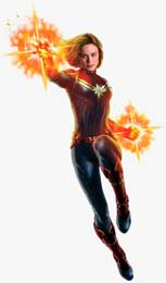 Captain Marvel Peel And Stick Wall Decal