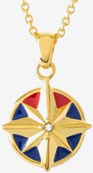 Captain Marvel Rocklove Enamel Star Necklace