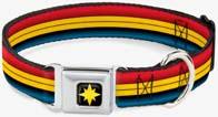 Captain Marvel Striped Dog Collar