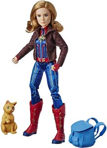 Captain Marvel Super Hero Doll With Goose The Cat